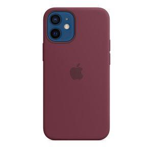 Силиконов калъф за Apple iPhone 12 mini - цвят слива