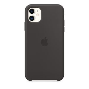 Силиконов калъф за Apple iPhone 11 - черен
