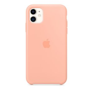 Силиконов калъф за Apple iPhone 11 - грейпфрут