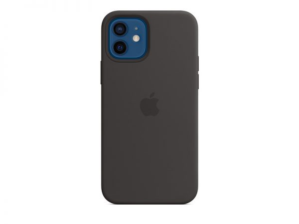 Силиконов калъф за Apple iPhone 12 и 12 Pro - черен