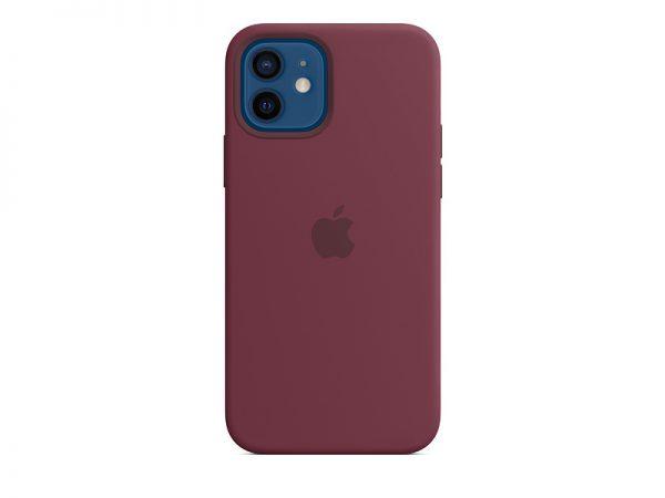 Силиконов калъф за Apple iPhone 12 и 12 Pro - бордо