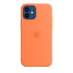 Силиконов калъф за Apple iPhone 12 и 12 Pro - оранжев