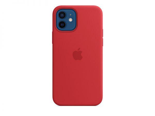 Силиконов калъф за Apple iPhone 12 и 12 Pro - червен