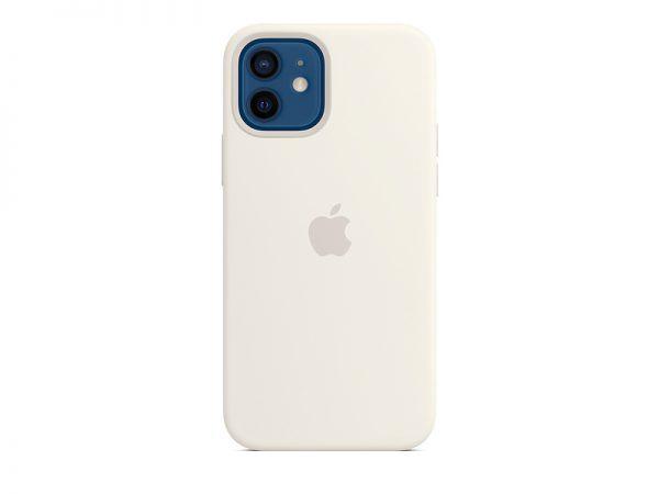 Силиконов калъф за Apple iPhone 12 и 12 Pro - бял