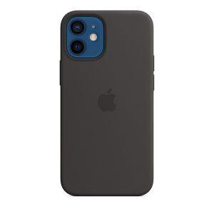 Силиконов калъф за Apple iPhone 12 mini - черен