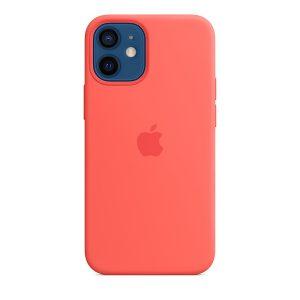 Силиконов калъф за Apple iPhone 12 mini - розов цитрус
