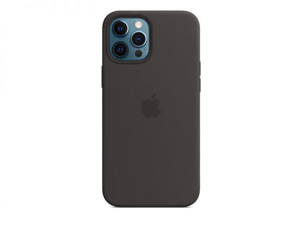 Силиконов калъф за Apple iPhone 12 Pro Max - черен