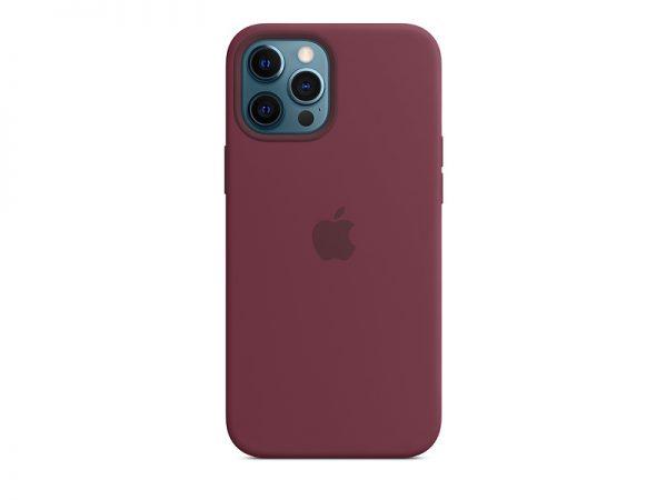 Силиконов калъф за Apple iPhone 12 Pro Max - бордо