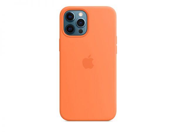 Силиконов калъф за Apple iPhone 12 Pro Max - оранжев