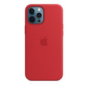 Силиконов калъф за Apple iPhone 12 Pro Max - червен