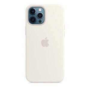 Силиконов калъф за Apple iPhone 12 Pro Max - бял
