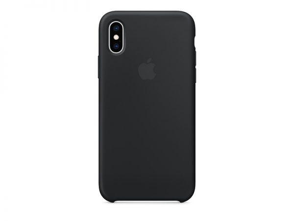 Силиконов калъф за Apple iPhone Xs - черен
