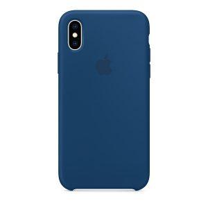Силиконов калъф за Apple iPhone Xs - син