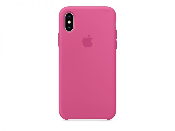 Силиконов калъф за Apple iPhone Xs - розов