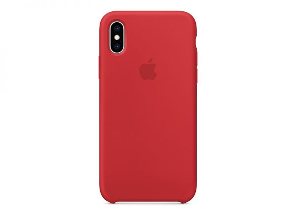 Силиконов калъф за Apple iPhone Xs - червен