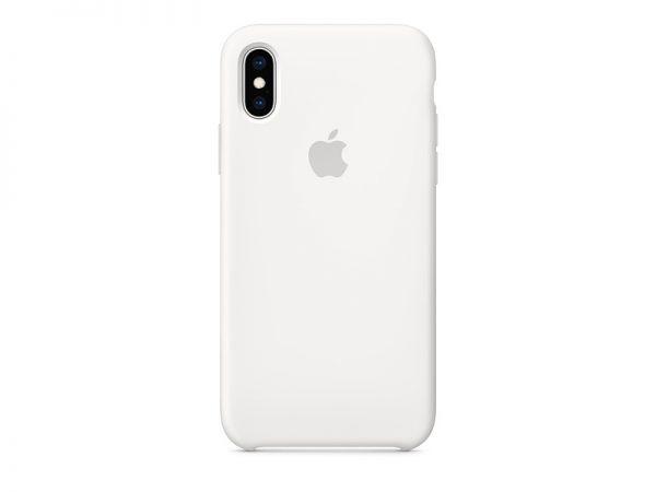 Силиконов калъф за Apple iPhone Xs - бял
